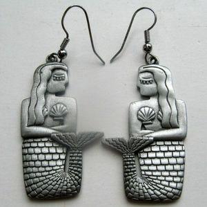 Vintage JJ Mermaid Earrings
